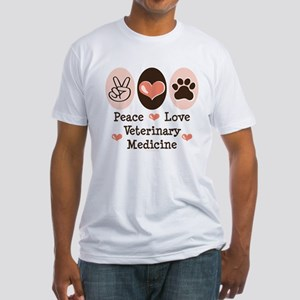 Peace Love Veterinary Medicine Fitted T-Shirt