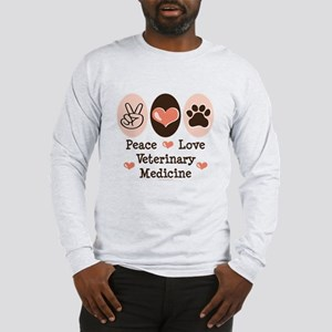 Peace Love Veterinary Medicine Long Sleeve T-Shirt