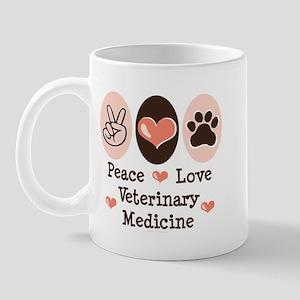 Peace Love Veterinary Medicine Mug