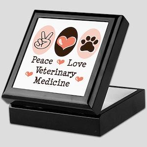 Peace Love Veterinary Medicine Keepsake Box