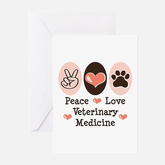 Peace Love Veterinary Medicine Greeting Cards (Pk