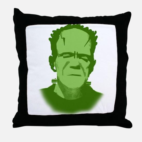 Creepy Frankenstein Face Throw Pillow