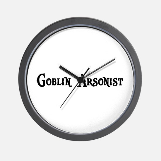 Goblin Arsonist Wall Clock