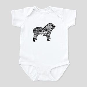 Bulldog Text Black Infant Bodysuit