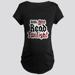 Real Men Read Twilight Maternity Dark T-Shirt