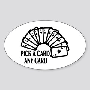 Pick A Card Oval Sticker