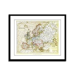 Europe, 1836 Framed Panel Print