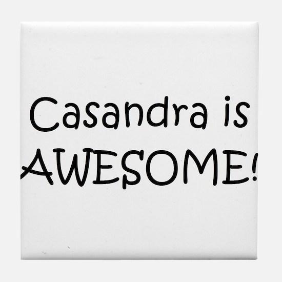Funny Casandra Tile Coaster