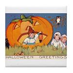 Childrens Halloween Tile Coaster