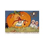 Childrens Halloween Rectangle Magnet