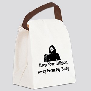 Keep Your Religion Away Canvas Lunch Bag