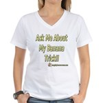 Ask Me About My Banana Trick Women's V-Neck T-Shir