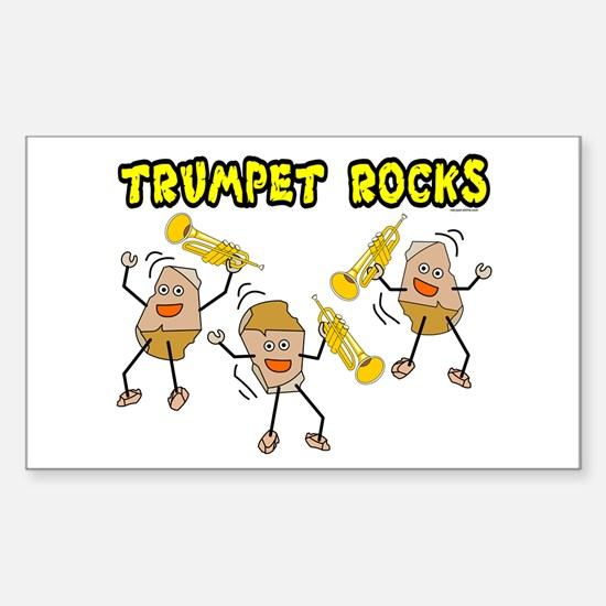 Trumpet Rocks Rectangle Decal