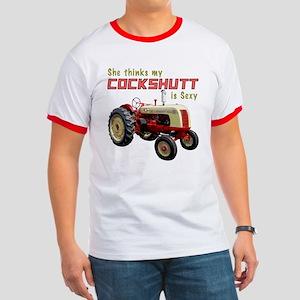 Sexy Cockshutt Tractor Ringer T-Shirt