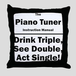 Piano Tuner Throw Pillow