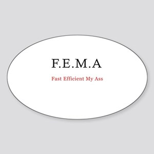 FEMA Oval Sticker