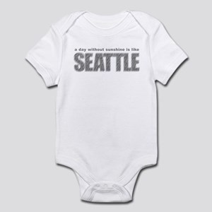 funny Rainy Seattle Weather Infant Bodysuit