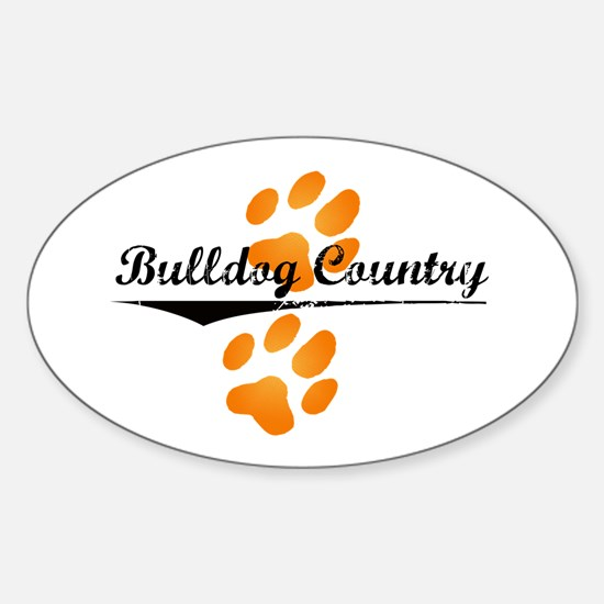 Bulldog Country Oval Decal