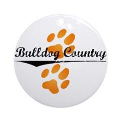Bulldog Country Ornament (Round)