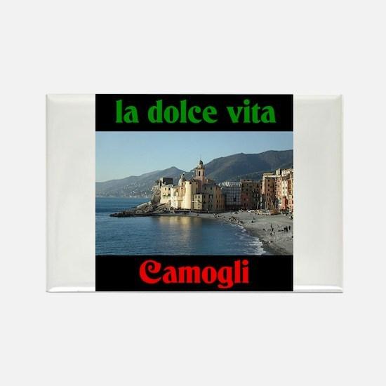 la dolce vita Camogli Italy Rectangle Magnet