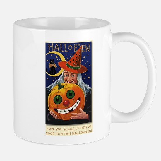 Vintage Witch with Smiling Pu Mug