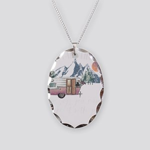 Glamping Who Says You Can' Necklace Oval Charm