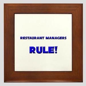 Restaurant Managers Rule! Framed Tile