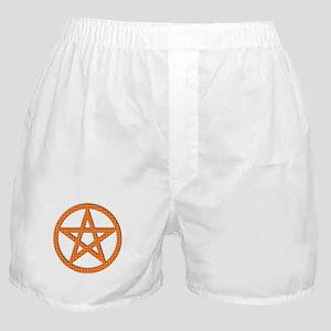 Pentagram Orange Gingham Boxer Shorts