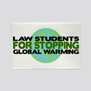 Law Students Stop Global Warming Rectangle Magnet