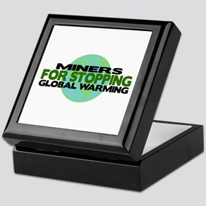 Miners Stop Global Warming Keepsake Box