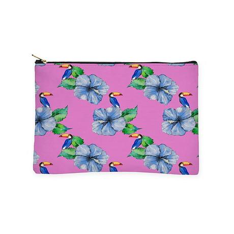 Hawaiian Blue Hibiscus, Toucan Makeup Bag