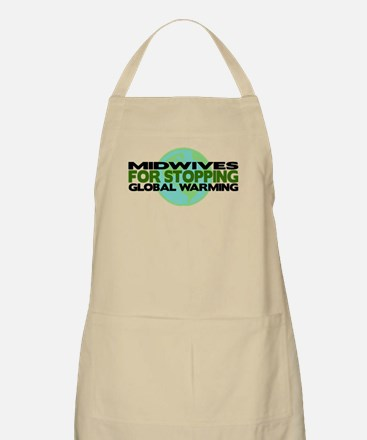 Midwives Stop Global Warming BBQ Apron