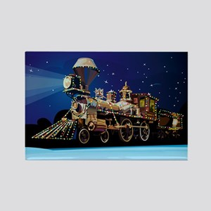 Christmas Train Rectangle Magnet