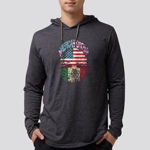American Grown- Mexican Roots Long Sleeve T-Shirt