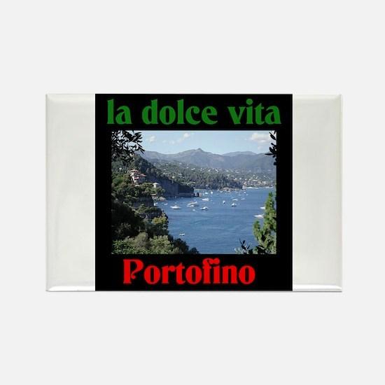 la dolce vita Portofino Italy Rectangle Magnet