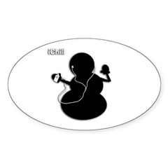 ichill Sticker (Oval 10 pk)