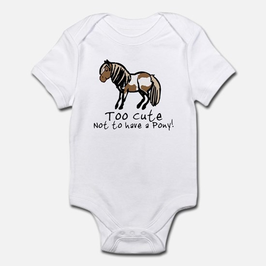 Too Cute Pony Infant Bodysuit