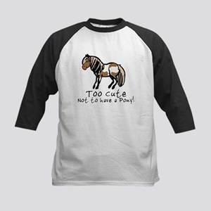 Too Cute Pony Kids Baseball Jersey
