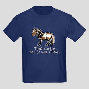 Too Cute Pony Kids Dark T-Shirt