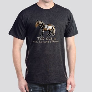 Too Cute Pony Dark T-Shirt