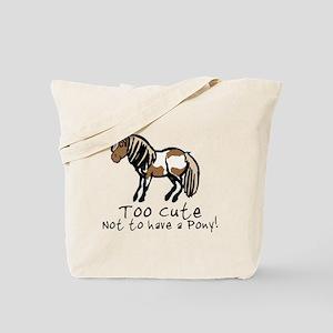 Too Cute Pony Tote Bag