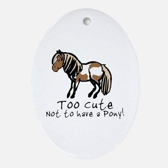 Too Cute Pony Oval Ornament