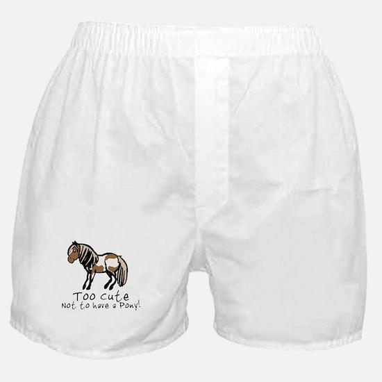 Too Cute Pony Boxer Shorts