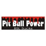 Pitbull Power Bumper Sticker