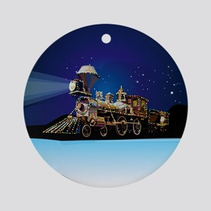 Christmas Train Ornament (Round)