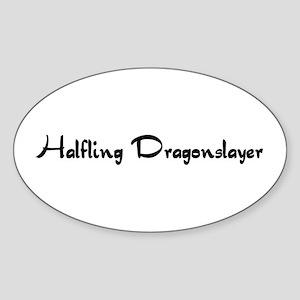 Halfling Dragonslayer Oval Sticker