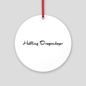 Halfling Dragonslayer Ornament (Round)