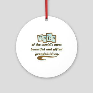 Baba of Gifted Grandchildren Ornament (Round)