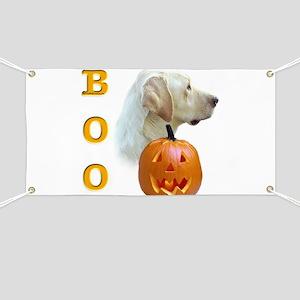 Yellow Lab Boo Banner