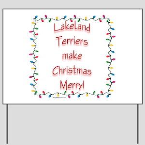 Merry Lakeland Yard Sign